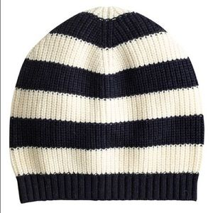 J. C R E W : Rugby Striped Beanie Hat